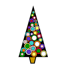 clipart christmas tree with presents clipart panda free