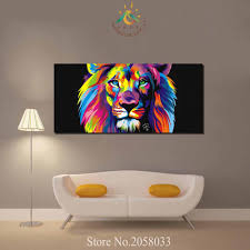 aliexpress com buy 3 4 5 pieces abstract colorful lion pictures