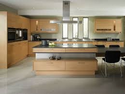 Kitchens With Light Wood Cabinets Light Brown Wooden Cabinets For Awesome Contemporary Kitchen Idea