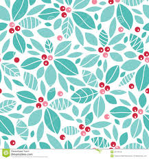 christmas holly berries seamless pattern royalty free stock image