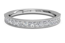 milgrain tool women s diamond milgrain wedding ring in platinum 0 24 ctw