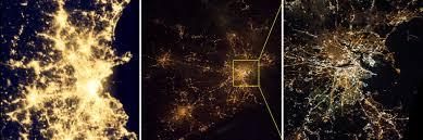 World At Night Map Iss Photos Yield