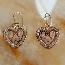 real gold earrings 50 jewelry new heart dangling earrings 10k real gold from