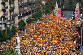 catalonia independence 350 000 activists stage barcelona rally in