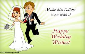 wedding wishes to make him follow your lead happy wedding wishes