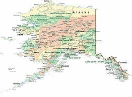 alaska major cities map alaska map