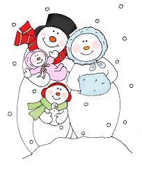 coloring page snowman family snowman family clipart 4429