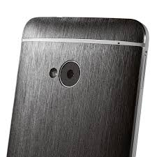 black titanium textured front and back cover skin for htc one black titanium