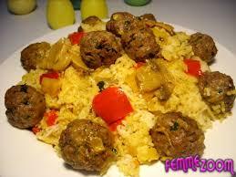 cuisine avec du riz recette riz aux boulettes de viande hachée et aux chignons