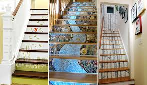 stair ideas 20 diy wallpapered stair risers ideas to give stairs some flair