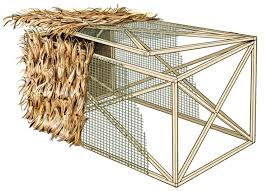 How To Make A Duck Blind The Idiot U0027s Guide To Raffia Grass Field U0026 Stream