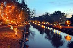 beautiful view of lighting at lahore canal on 12 april 2009