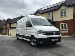 volkswagen crafter back van review first irish drive volkswagen crafter fleet
