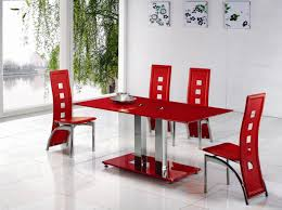 alba square clear glass dining table modenza furniture