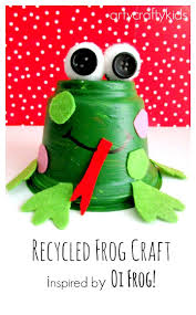 recycled frog craft for kids frog crafts