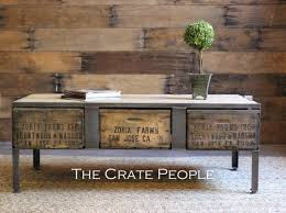 vintage wood coffee table 3 zoria crate industrial coffee table with metal plates