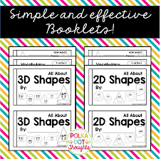 learn 2d and 3d shapes booklet preview png