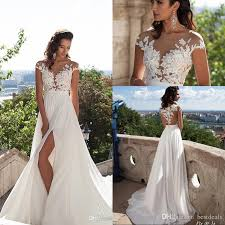 wedding dress simple simple chiffon bohemian wedding dresses 2017 sheer neck