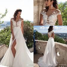 simple wedding dresses for brides simple chiffon bohemian wedding dresses 2017 sheer neck
