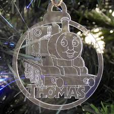 6 pk of handmade the tank engine themed clear acrylic