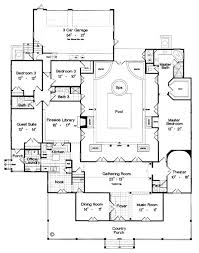 luxury home floorplans 95 best courtyard homes home home images on home
