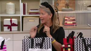 scout large gift bag with two beverage totes on qvc