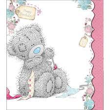 tatty teddy making bow birthday me to you bear card a01ud007