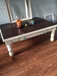 farmhouse style coffee table makeover black pearl upcycled