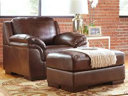 ashley furniture chair and ottoman ashley leather chair and ottoman signature design by contemporary