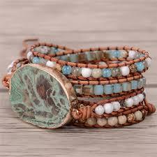 beaded bracelet leather images Latest 2018 5x leather wrap beaded bracelet huge oceanstone jpg