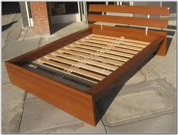 bed frames full size platform bed plans minimalist bed frame