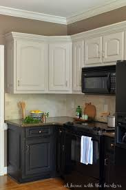 diy kitchen cabinet painting ideas kitchen beautiful painted kitchen cabinets with black appliances