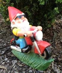 solar gnome motorcycle statue gift ideas gnomes