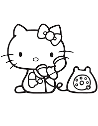 kitty talking telephone coloring u0026 coloring pages