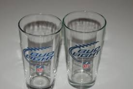 bud light touchdown glass app amazon com bud light nfl pint glasses set of 2 kitchen dining