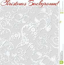 3d Invitation Cards Winter Floral 3d Seamless Pattern Background Stock Vector Image
