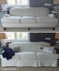 Denim Slipcover Sofa by White Denim Slipcover For Art Van Scarlett Sofa The Slipcover Maker