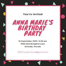 party invite templates birthday party invitation template word