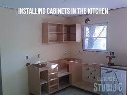 Setting Kitchen Cabinets Installing Cabinets In The Kitchen U2013 Designs By Studio C