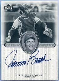 Johnny Bench Autograph 2000 Upper Deck Legendary Signatures Johnny Bench Autograph S Jb