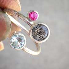 mothers day birthstone rings three birthstone ring personalized jewelry unique birthstone