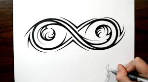 drawing an elaborate infinity symbol tribal design style