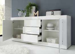 High Gloss Sideboards Uk Urbino Collection Sideboard Two Doors Three Drawers White High