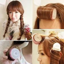barrel curl hair pieces the air salon hair curler coiling bang curly hair curly korean