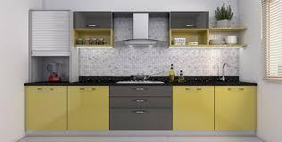 Kitchen Cabinets With Price Buy Heron Elegant L Shaped Kitchen Online Best Price Homelane