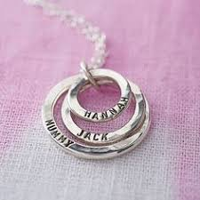 Necklaces With Children S Names Mom Necklace Sterling Silver Necklace Personalized Name