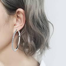 ear hoop cut hoop earrings 925 sterling silver large hoops earrings