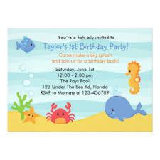 fish birthday invitations u0026 announcements zazzle