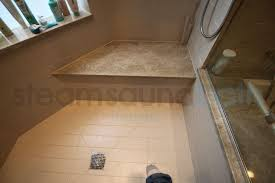 angled steam shower bench photo gallery and image library