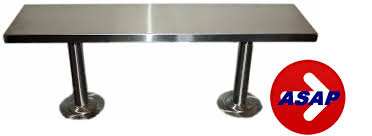 Stainless Steel Bench Top Stainless Steel Locker Room Bench And Pedestals